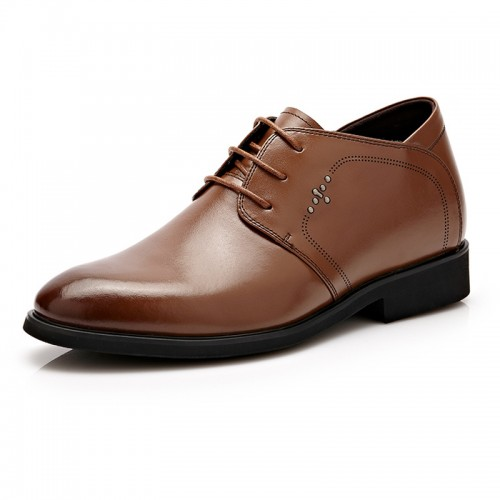 British bridegroom wedding shoes add taller 6cm / 2.36inch brown oxfords