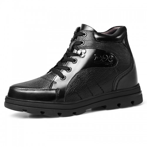 Extra Tall 5 inch Elevator Shoes Make Men Looks Height 13 cm Full-Grain Calf Leather Dress Shoes For Cheap Sale