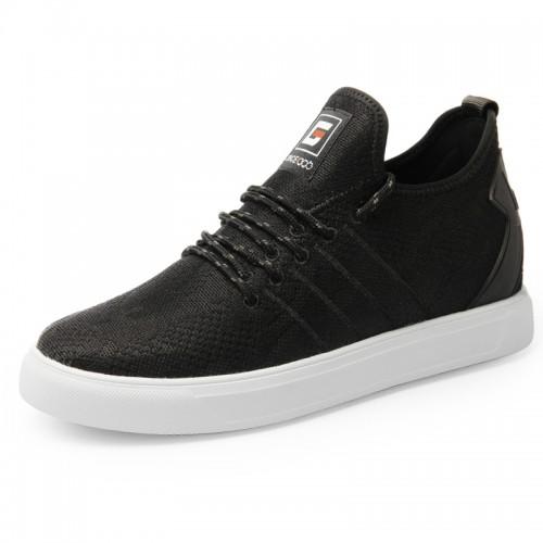 2019 Lightweight Elevator Skateboarding Shoes for Men Get Taller 2.4inch / 6cm Black Fashion Trainers