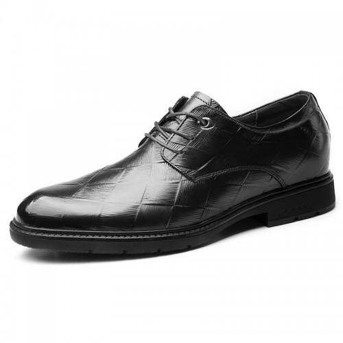 2019 Korean Elevator Formal Shoes for Men Increase Taller 2.6inch / 6.5cm Genuine Leather Business Derbies