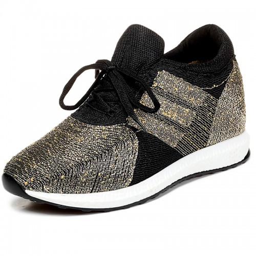Extra height flyknit racer shoes elevator sneakers