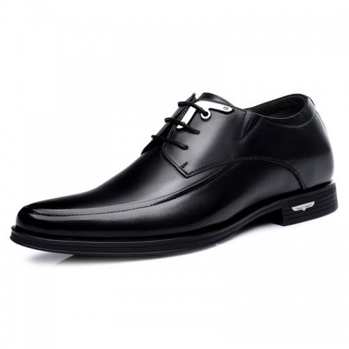 Premium cowhide business elevator dress shoes 2.4inch / 6cm Black