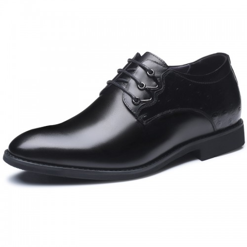Premium Leather Taller Shoes add altitude 2.8inch Plain toe height increasing business shoes