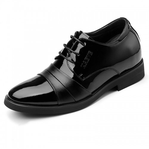 Men Taller Wedding Shoes Pointy Cap Toe Formal Tuxedo Shoes Increase Height 3.2inch / 8cm