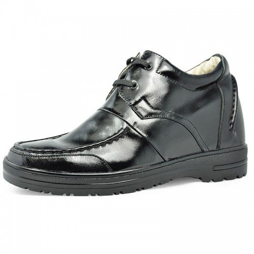 Black men increase height casual shoes become taller 7cm / 2.75inches