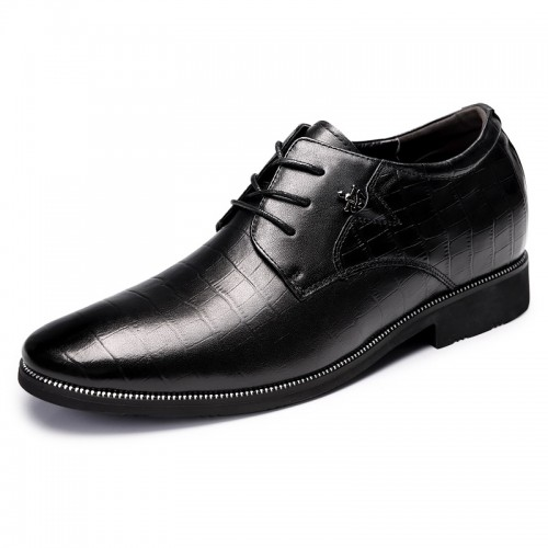 Alligator Pattern Elevator Tuxedo Shoes for men taller business shoes