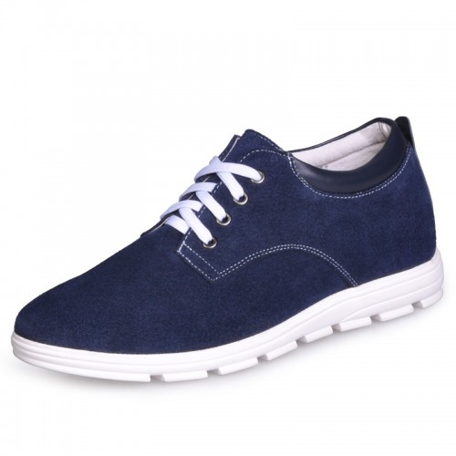 UK blue extra height shoes men casual sneaker shoe add taller 6cm / 2.36inches