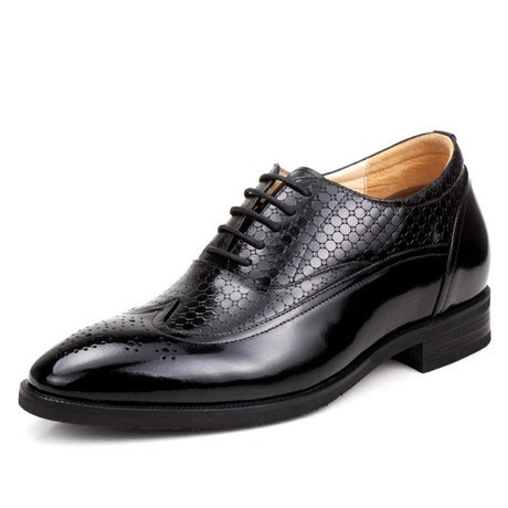 Up market brogue retro dress shoes increase height 6.5cm / 2.56inches classic elevator shoes