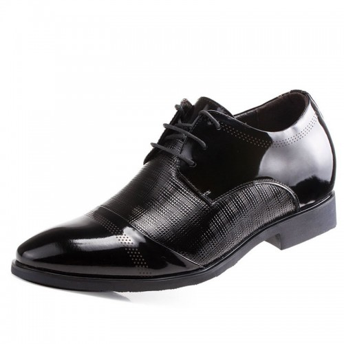 Popular patent leather dress shoes height increasing 6cm / 2.36inches classic elevator dress shoes