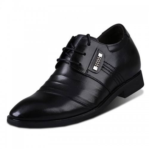 Korean business elevator shoe get taller 7cm / 2.75inches height increasing dress shoes