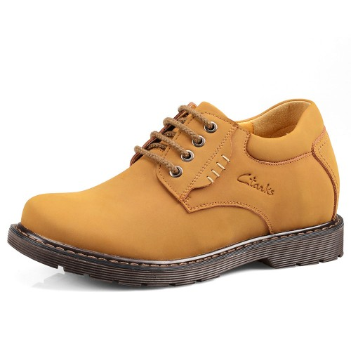 Fall Korean casual shoes make you taller 8cm / 3.15inches leather height increasing elevator men shoes