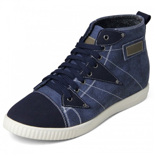 High Top Canvas Shoes for men taller 2.4inch