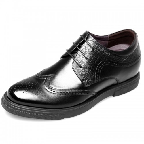 2018 Brogue Elevator Business Shoes for men Add Taller 2.6inch
