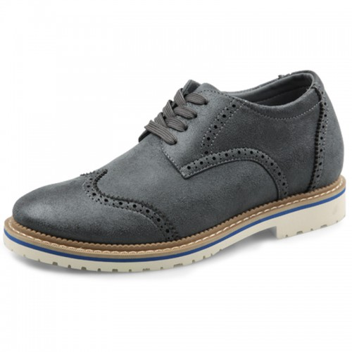 Taller Brogue Casual Shoes for men Height 2.6inch / 6.5cm elevator shoes