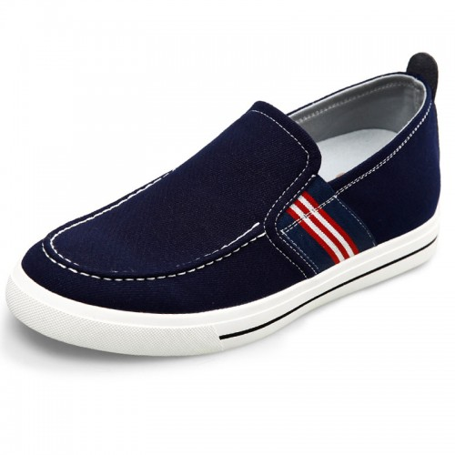 2017 Fashion comfortable height loafers 2.4inch / 6cm blue elevated slip on sneakers