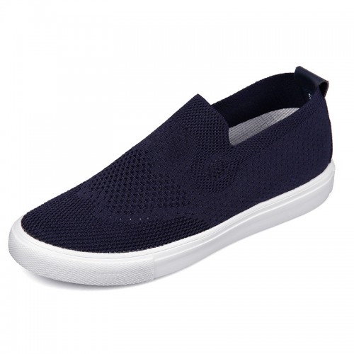 Men  Elevator Jogging Shoes Height 2.6inch / 6.5cm Slip On Taller Sneakers