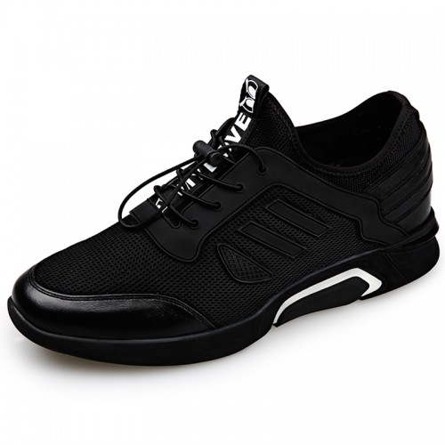 Men casual gym shoes add height 2.4inch
