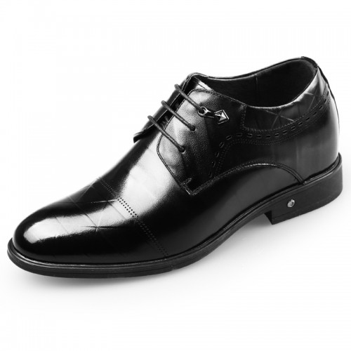 Gentleman Elevator Shoes increasing height 2.6inch formal oxfords shoes