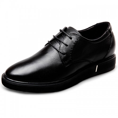 Height Increasing Casual Flat Shoes for men Taller 2.4inch soft calfskin elevator shoes