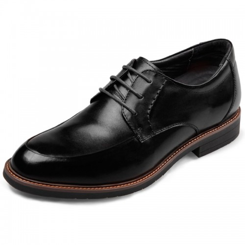 European Elevator Formal Shoes for men lace up high heel dress shoes