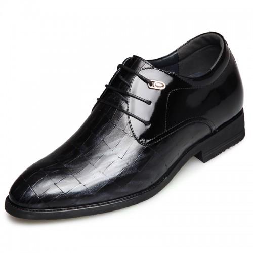 Elegant taller tuxedo shoes for men taller 2.6inch laca up elevator dress shoes