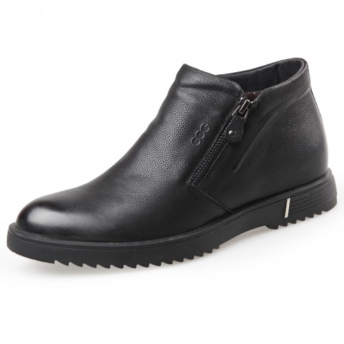 zip elevator ankle boots warm taller casual boot shoes