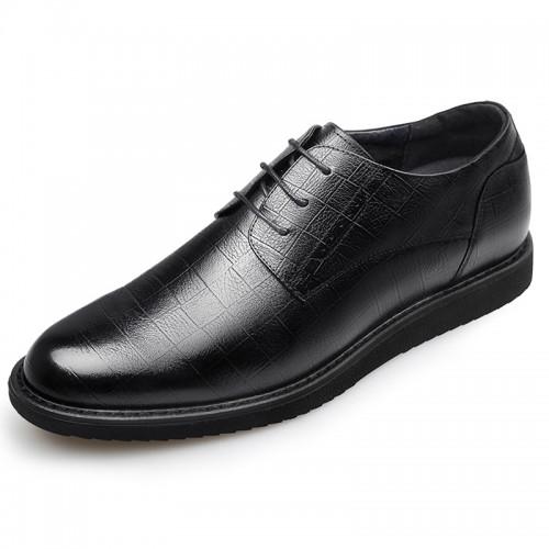 Hidden Lifts Tuxedo Shoes for men get taller 2.4inch  / 6cm black oxford shoes