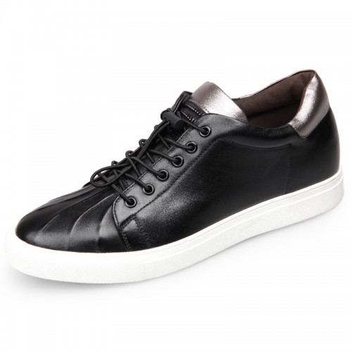 Cowhide Height Increasing Casual Sneakers form taller skateboarding shoes