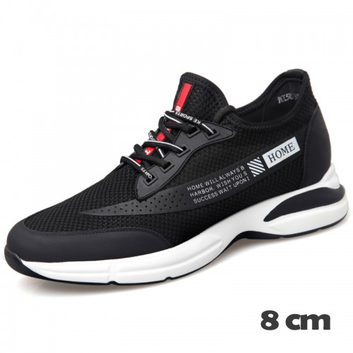 Campus Taller Sneakers for Men Increase Height 3.2inch / 8cm Casual Flyknit Mesh Shoes