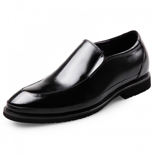 Lightweight elevator shoes for men Slip On Glossy Dress Oxford Taller 2.6inch / 6.5cm