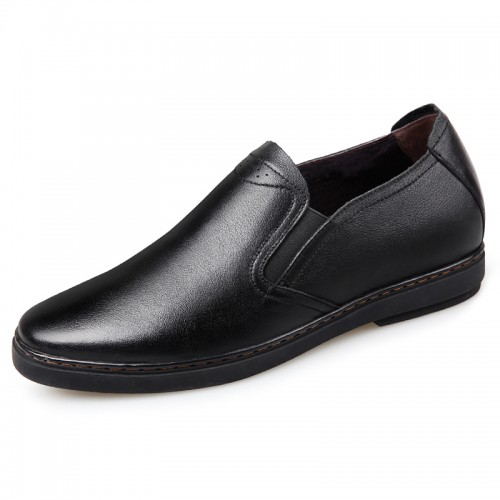 Premium Soft Genuine Leather Elevator Shoes for men slip on taler shoes