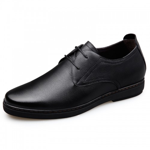 Genuine Leather Taller Shoes for men height 2.4inch