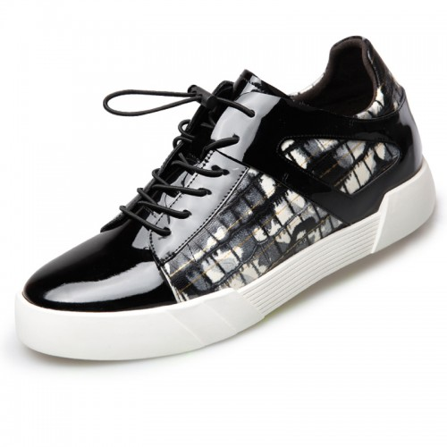 Elevator Skateboarding Shoes Taller 2.4inch Height Increasing Casual Shoes