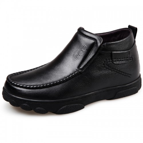 warm slip on ankle boot increase height