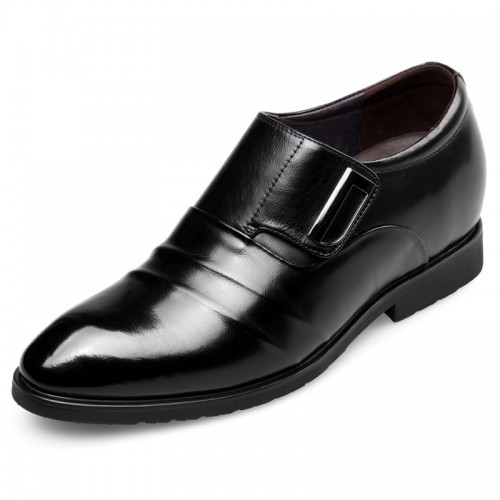 Stylish Velcro Elevator Formal Shoes increase height loafers