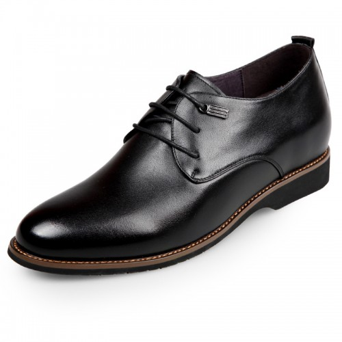 Hidden Heel Plain Toe Oxford for Men Gain Taller 2.6inch / 6.5cm