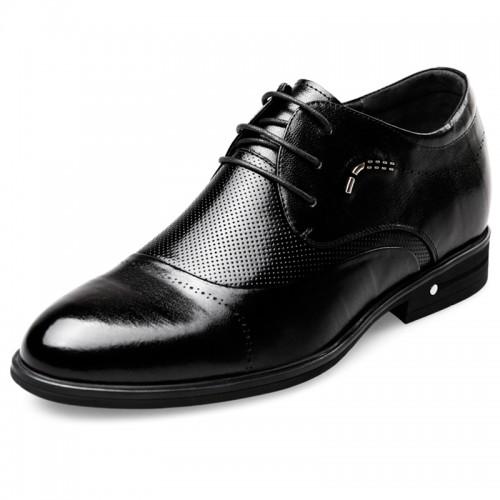 Summer Business Sandals Taller 2.4inch / 6cm Black Elevator Oxfords