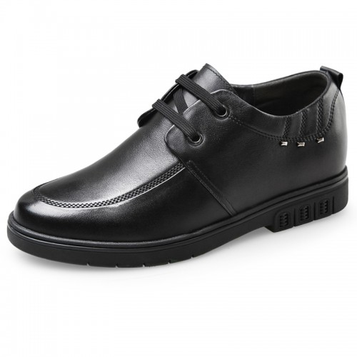 Comfortable lace up add height casual dress shoes 2.6inch / 6.5cm