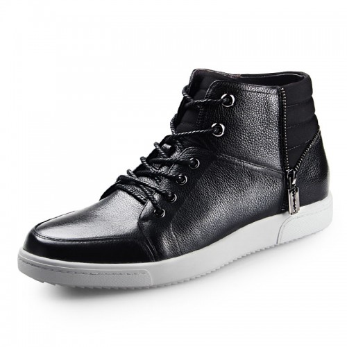 Men casual chukka boot gain taller 6cm / 2.36inch lace up elevator board shoes