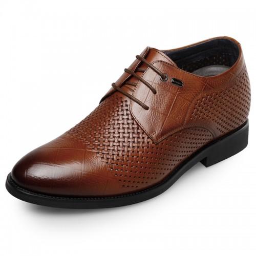 Premium Height Insoles Formal Sandals 2.6inch / 6.5cm Brown Taller Oxfords