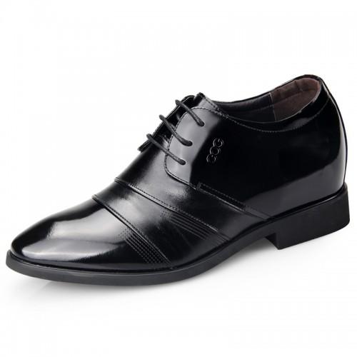 Honorable men elevator tuxedo shoes 6.5cm / 2.56inch taller formal wedding shoes