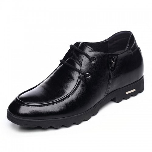 Spring height elevator business casual shoes 6.5cm / 2.56inch lace up taller shoes