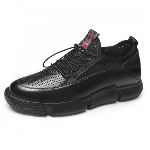 Lightweight Elevator Platform Shoes for Men Increase 2.6inch / 6.5cm Hollow Out Taller Casual Shoes