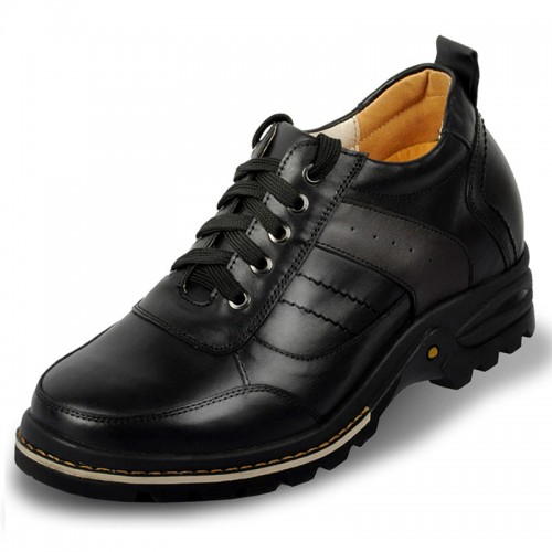 mens genuine leather height increasing elevator casual shoes grow 9 cm / 3.54 inch