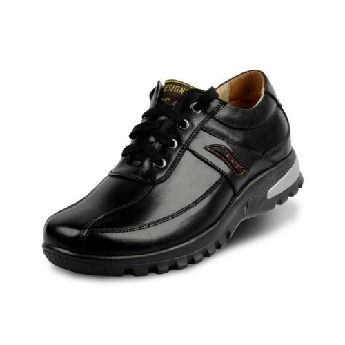Lace up men's leather business casual shoes