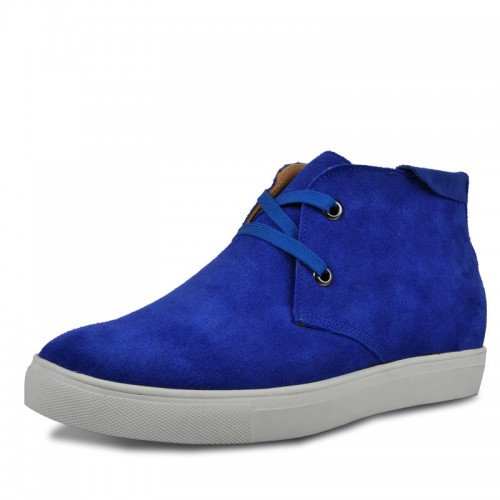 Blue casual shoes that give you height 6cm / 2.36inches
