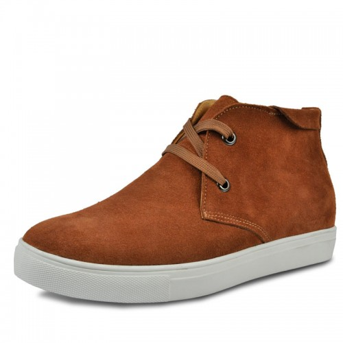 Brown elevation shoes that increase height 6cm / 2.36inches