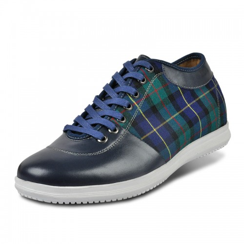Blue height elevator casual shoe get taller 6cm / 2.36inches