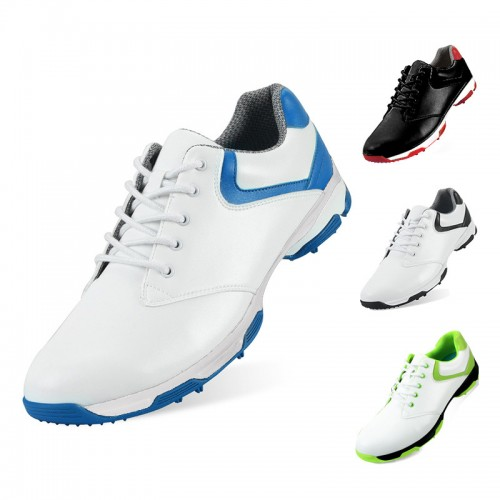 Elevator Men Golf Shoes Anti-Skid Waterproof Spikes Height Increasing Shoes Add Taller 2.4inch / 6cm