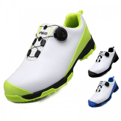 Height Increasing Waterproof Golf Shoes Non Slip Rotary Lace Up Sneakers Add Taller 2.2inch / 5.5cm